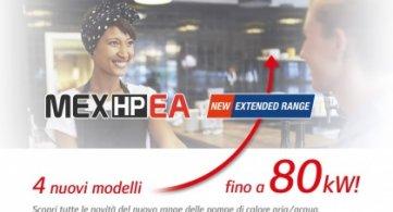 MEX HP EA: 4 nuovi modelli fino a 80 kW!