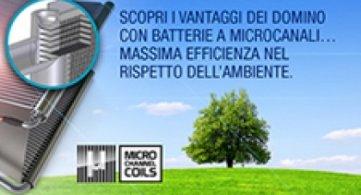 Domino e Domino Ea con batterie a Microcanali a partire da Marzo 2017